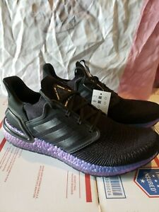 ADIDAS ULTRABOOST 20 INTERNATIONAL SPACE STATION Core Black Boost Blue size 10.5