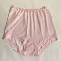 Vintage 1960s Vanity Fair Blue Script Pink Pechglo Band Leg Panties. Size 6
