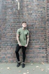 Khaki Tshirt Size S,M,L,XL - Superdry, sik silk, gym king, bee inspired