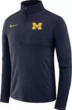 Nike Men's Michigan Wolverines Blue Core Half-Zip Shirt; Size Large