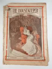 Vintage 1904 The Housekeeper Womans Magazine Recipes Fashion Stories Ads