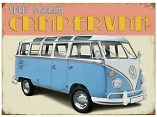 Retro Split Screen VW Campervan Wall Art