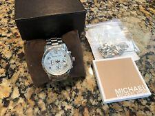 Michael Kors Stainless Steel Silver Ladies Women Runway Chronograph Watch MK5076