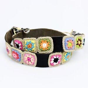 Patricia Nash Bella Vista Strap Knit Square Black Leather Retail $89