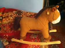 ANIMATRONICS CO Wooden Rocking Horse ( PONY) SOUND N LIGHT