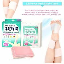 [Cj Lion] Japan Foot Relief Cooling Patch Gel Sheet for Thigh and Feet 12pcs