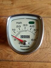 Honda C50 C50M White faced Speedo New Old Stock Genuine 0 Miles NOS