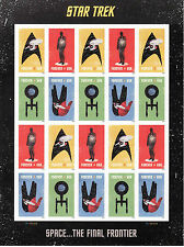 STAR TREK SPACE THE FINAL FRONTIER STAMP SHEET -- USA #5132-5135 FOREVER 2016