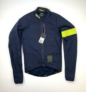 RAPHA Pro Team Training Jacket Navy Yellow Size Small New