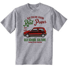 VINTAGE ITALIAN CAR FIAT UNO TURBO- NEW COTTON T-SHIRT