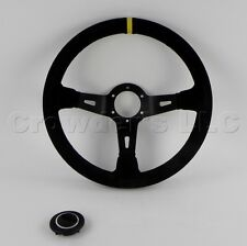 Sport Line 330mm Racing 3 Steering Wheel - Black Suede with Stripe - 20187/1/S