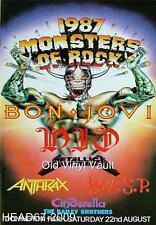 Bon Jovi-Monsters Of Rock Donington Park UK August 22nd 1987 concert poster