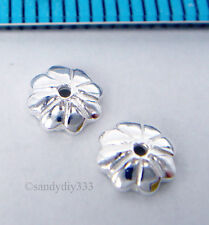10x BRIGHT STERLING SILVER FLOWER BEAD CAP SPACER 5.2mm #1681