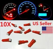 10x T5 Red Car 5050 SMD 1LED Instrument Dashboard Gauge Mini-Wedge Bulb light