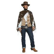 Cowboy Costume Adult Clint Eastwood Poncho Wild West Gunslinger Fancy Dress