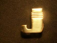 monogramme metal ancien initiale maroquinerie bagage art deco laiton doré neuf J