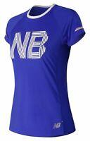 New Balance Women's Printed NB Ice 2.0 Short Sleeve Blue