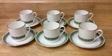 ROYAL DOULTON - RONDELAY - COFFEE CANS AND SAUCERS X 6