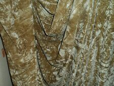 2 MTR  QUALITY ANTIQUE GOLD ICE CRUSH VELVET FABRIC...58 INCHES WIDE