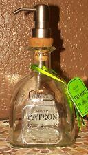 750 ml PATRON TEQUILA METAL PUMP SOAP DISPENSER MAN CAVE BAR EMPTY BOTTLE
