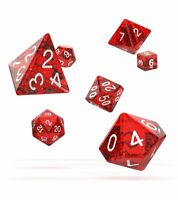 Oakie Doakie Dados RPG Cubo Set Speckled Rojo (7) Rol Cubo Box Rojo