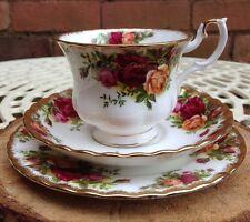 Royal Albert Old Country Roses TRIO TAZZA PIATTINO Tè (Lato Piastra) Vintage Wedding