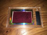 Ronnie Lott 2015 Leaf Masterpiece Cut Signature signed autographed card 1/1 JSA