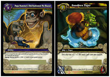 WOW TCG Sandbox Tiger + Papa Hummel's Old-Fashioned Pet Biscuit Two Loot Cards