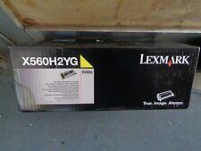 Genuine Lexmark X560H2YG High Yield YELLOW Toner Cartridge X560n 10,000 Pages