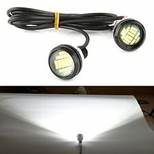 2pcs DC 12V 15W Eagle Eye LED Running DRL Backup Light Car White Auto Lamp Bulbs