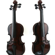 Brown Kids Violin & Bow Childrens Musical String Instrument Toy for Practice