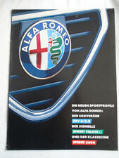 Alfa Romeo range brochure c1980's German text