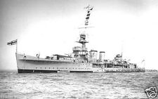 ROYAL NAVY C CLASS CRUISER HMS COLOMBO IN 1937 - PURSUIT SCHARNHORST & GNEISENAU