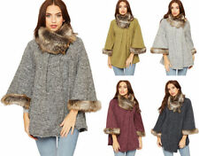 Polyester Regular Size Poncho Jumpers & Cardigans for Women