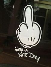 Have a nice Day Fuck off Stinky Finger Sticker Aufkleber Decal Folie Die Cut