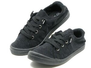 New Womens Lace Up Canvas Shoes Casual Comfy Slip-On Sneakers Size 5-11