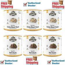 Augason Farms MEAT VARIETY (BEEF & CHICKEN) Freeze Dried 6 x #10 Can REAL MEAT