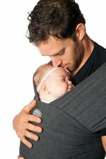 Authentic MOBY EVOLUTION BAMBOO Baby Wrap/Carrier-CHARCOAL-Great for newborns!