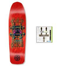 Black Label Skateboard Deck Emergency Lucero OG Bars Red Sk8ology Wall Mount