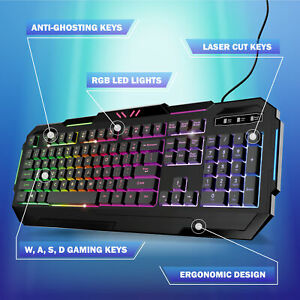 TikTok Bugha Exclusive Backlit RGB LED Gaming Keyboard with Function Keys for PC
