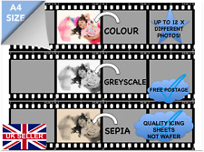 EDIBLE FILM STRIP EDIBLE PHOTO MULTI-IMAGES CAKE BOARDER QUALITY A4ICING PAPER