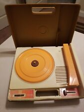 Fisher Price vintage 33 45 orange Record Player Turntable #825 TESTED WORKS