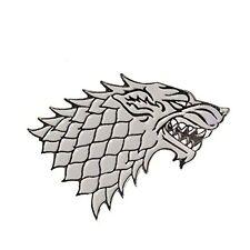 Game of Thrones House Stark Jon Snow Winter is Coming GOT Dire Wolf Enamel Pin