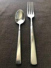 Oneida EASTON Stainless Flatware cube 1 dinner fork & 1 teaspoon
