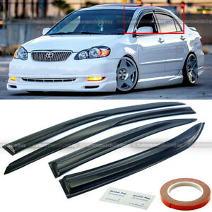 For 03-07 Toyota Corolla  Mugen Style 3D Wavy Tinted Window Visor Vent