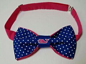 Custom Mens  Blue/Pink Whale Polka Dot Bow Tie Pre-tied Adjustable Handmade Gift
