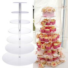 7-Tier Acrylic Round Cake Cupcake Stand Tower Display Birthday & Wedding Party