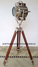 Hollywood Theater Spot Light Wooden Tripod - Floor Lamp Vintage Best Gift