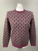 BEN SHERMAN Mens Crew Neck Long Sleeved JUMPER - Size LARGE L