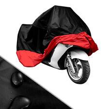 Funda Protector (245cm) Talla XL Cubierta para Moto/Motocicleta Negro Rojo
